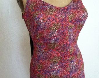 Tiny Floral Print ROSE MARIE REID Vintage Swimsuit