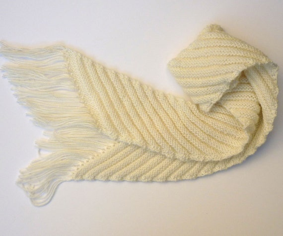 Knitting On The Bias Patterns : Pdf knitting pattern scarf bias stripe striped