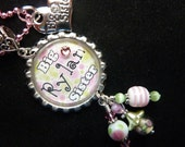 PERSONALIZED Big Sister/Little Sister Bottle Cap Pendant Necklace/Zipper Pull With Charm