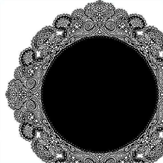 Lace Doily Frame Clip Art Decorative Lace Border Circle