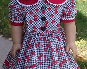 1930's Dress For Kit Or Similar 18-Inch Doll