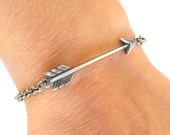 NEW Steampunk Arrow Bracelet- Arrow Anklet- Hunger Games Inspired- Sterling Silver Ox Finish or Antiqued Brass Ox Finish