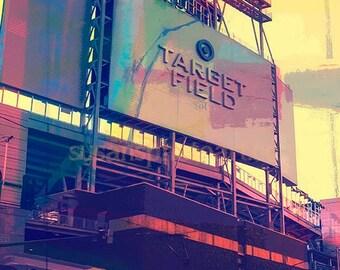 Target Field, Minnesota, Minnesota twins art,  baseball, digital photo, wall art, home decor, Minneapolis, edgy, sports,  Minnesota Twins