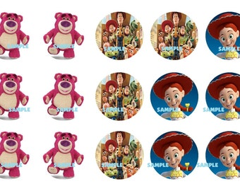 DISNEYS Toy Story Digital Collage Sheet 1 inch Circles 4x6 (S2) Two Files