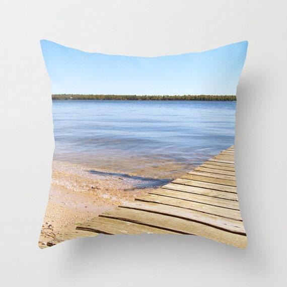 Coastal Decorative Pillow Covers : Coastal Pillow Cover Beach House Decor Cotton Throw Cushion