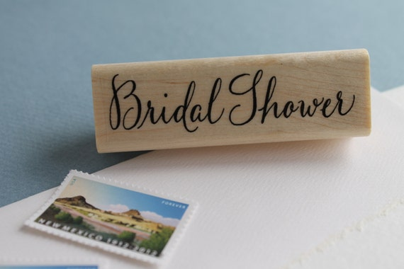 Bridal shower rubber stamp for Wedding dress rubber stamp