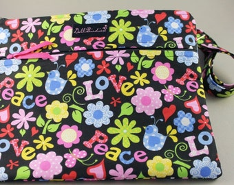 DollbirdiesPadded Zippered Front IPad/Nook/Kindle/eReader/Travel/Hipster/Across the Body/ Shoulder Purse