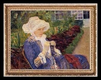 Peaceful 1800's Lady Miniature Dollhouse Art Picture 6601