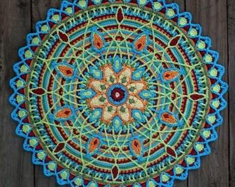 Crochet Overlay Mandala  No. 5, Pattern PDF