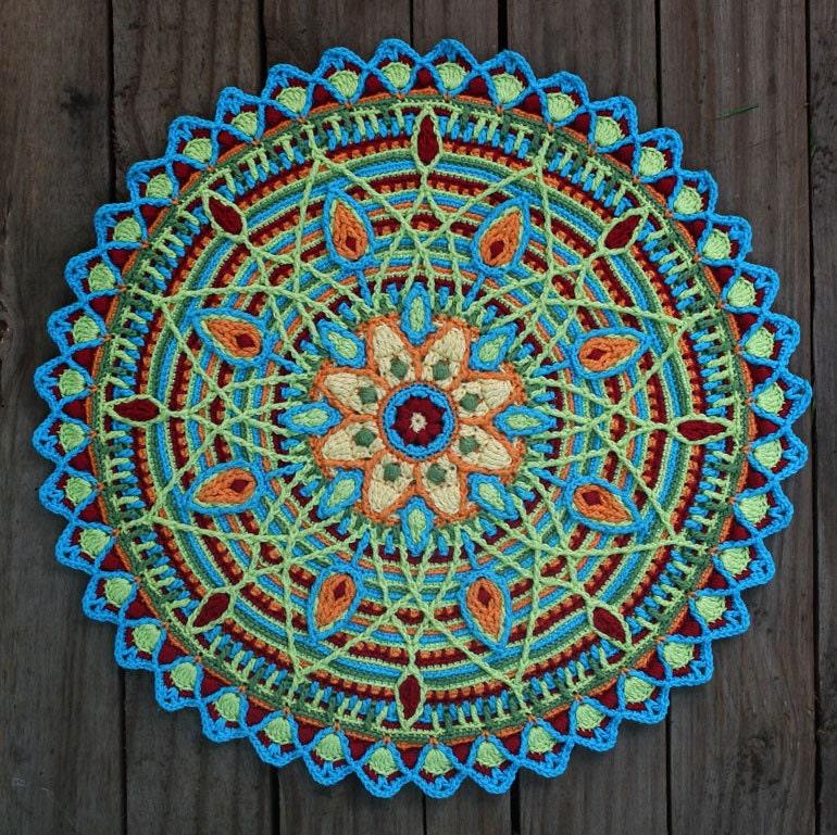 Crochet Mandala : Crochet Overlay Mandala No. 5 Pattern PDF in by CAROcreated