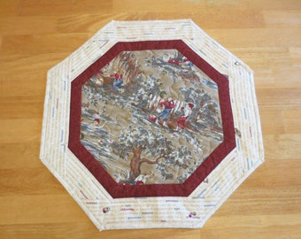 SALE: Tom & Huck Quilted Table Topper/ Wall Hanging