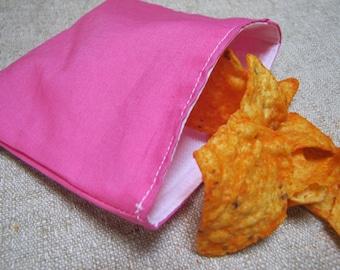 Sale!! Reusable Snack Bag - Pink