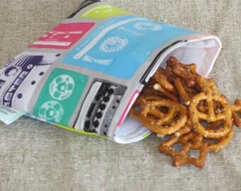 Reusable Snack Bag - Cassette Tape