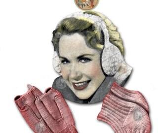 Ear Muffs, Half Mittens, Knee Warmers - Vintage Digital Knitting Crochet Pattern - PDF Instant Download- PrettyPatterns Please