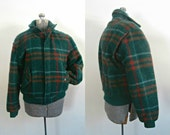 Members Only Wool Bomber // Vintage 1980s Plaid Winter