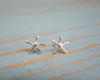 Bridesmaid Earrings Set of 6, Starfish Earrings, Beach Themed Wedding Jewelry, Destination Wedding Bridal Jewelry