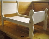 Handmade Sleigh Bed for 18 inch Doll