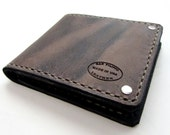 Mens Leather Wallet, Leather Bifold Distressed Brown, Fully Lined Credit Card Pockets, Personalized Gift Men, Monogrammed Wallet, Unique
