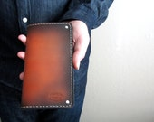Mens Leather Wallet Sunburst Leather Wallet Best Selling Long Wallet Gift For Men Custom Leather Unique Wallet Can Be Personalized