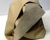 Shoulder Handbag Handmade In Cream Leather