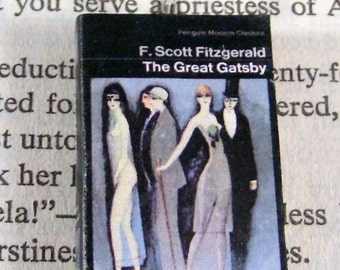Miniature Classic Novels Book Necklace Charm The Great Gatsby Version 2