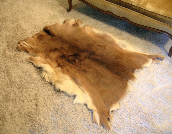 ... Deer Hide Rugs Items Similar To Vintage Tanned Whitetail Deer Hide Rug  Or ...