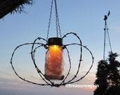 Solar Thanksgiving Chandelier Fall Holiday Mason Jar Hanging Light, Metal Pumpkin Thanksgiving Decor, Hanging Lantern Home and Living Light