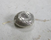 Hill Tribe Silver Decorative Puffed Focal Bead