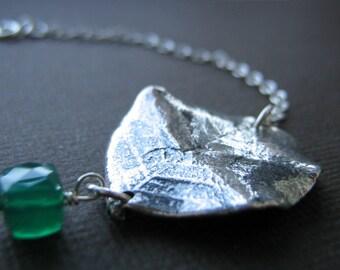Sterling Silver Leaf Bracelet
