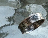 Wisconsin State Quarter Ring size 5 to 12 Jewelry by Custom Coin Rings