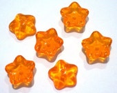 Translucent Orange Glass Flower       (E4912)