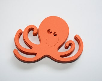 24 x Octopus Die Cuts - Orange
