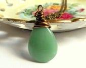 Green Aventurine Wire Wrapped Pendant,Gemstone Jewelry,Aventurine Necklace