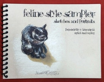 Feline Style Sampler, sketches and portraits book