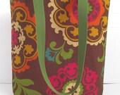 Damask Tote Bag - Medium Tote Bag - Damask Print Bag - Damask Purse