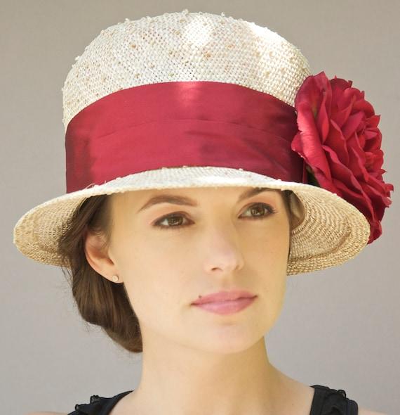 kentucky derby hat womens straw cloche by awarddesign