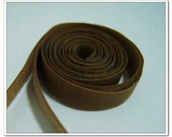 2 yards 20mm brown Sew on Velcro Hook & Loop Tape