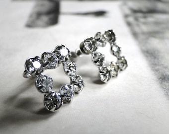 LAST CALL SALE Jewelry, Earrings / Vintage Rhinestone Earrings / Retro Earrings / Accessories Gift for Her / Gift Box