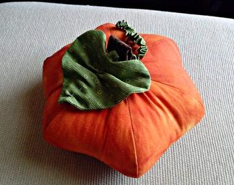 Fall Halloween Pumpkin Pincushion