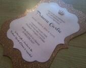 Sparkling Crown Princess Invitation