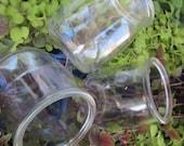 Case Glass Jars-48 Yogurt Jars-Bulk Small Jars-With 48 Lids- Favor Jars-Candle Jars-Mason Style-Glass Jam Jar European-Dessert Pudding Jars