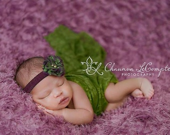 Stretch Lace Wrap Lemongrass Green Newborn Photography Prop Baby Swaddle