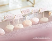 Eat Me Party Picks - blush pink with twine bows - set of 10