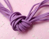 Suede Leather Strings Cord / Leather Cord / Leather Strap / Faux Leather Strip / Suede Cord (3mm / 2 Meters / Purple) Necklace Bracelet F082
