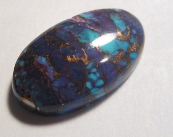 Aztec Turquoise cab ...........    20 x 12 x 5 mm  .......             a2801