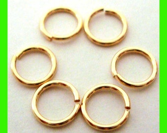 50pcs 6mm 20.5 gauge 14k yellow gold filled jump rings charm connector Gr04