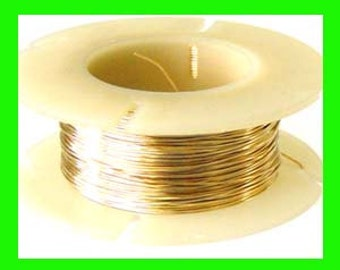30 gauge 14k yellow gold filled beading craft crocheting metal round wire dead soft hardness .5 oz