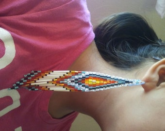 Native American Made Shoulder Duster Earrings