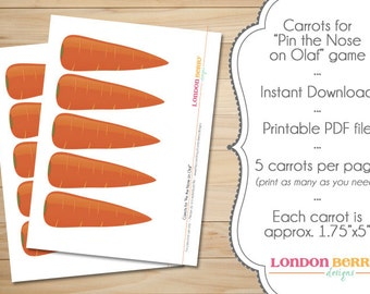 Snowman Carrot Noses - INSTANT DOWNLOAD