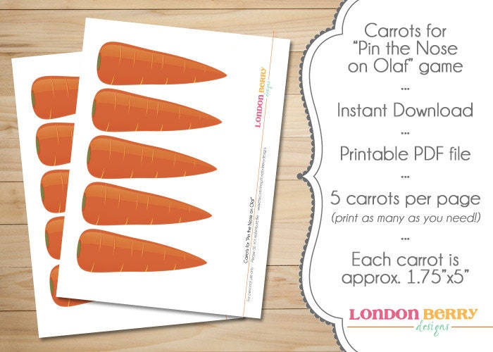 Snowman Carrot Noses INSTANT DOWNLOAD by londonberrydesigns